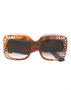 Солнцезащитные очки с декорированной оправой Gucci eyewear