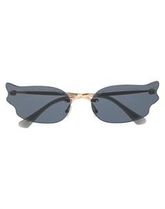 Солнцезащитные очки Ember в оправе кошачий глаз Jimmy choo eyewear