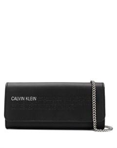 кошелек с логотипом на цепочной лямке Calvin klein 205w39nyc