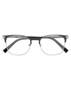Очки в квадратной оправе с логотипом Salvatore ferragamo eyewear