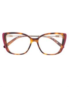 Очки в квадратной оправе черепаховой расцветки Salvatore ferragamo eyewear
