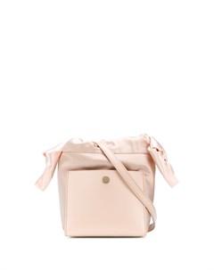 Атласная сумка тоут размера мини Sophie hulme