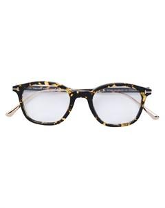 Очки в оправе с эффектом черепашьего панциря Tom ford eyewear
