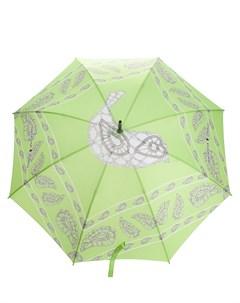 зонт с принтом и логотипом Natasha zinko