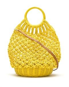 Соломенная сумка в технике кроше Serpui