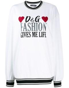 свитер с логотипом Dolce&gabbana