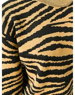 свитер с жаккардовыми тигровыми полосками Proenza schouler