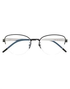 Очки в овальной оправе Saint laurent eyewear