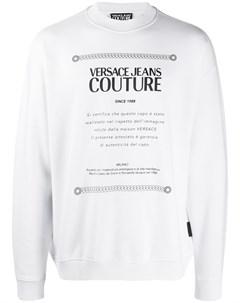 пуловер с логотипом Versace jeans couture