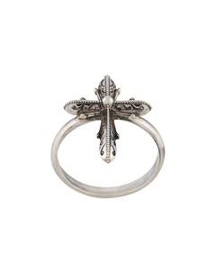 кольцо с декором в виде креста Emanuele bicocchi