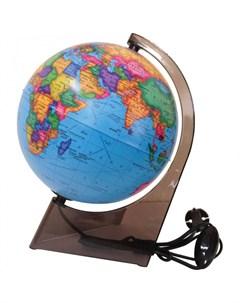 Глобус политический 21 см с подсветкой на треугольной подставке Глобусный мир