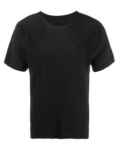 Плиссированная футболка Homme plissé issey miyake