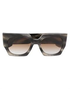 Солнцезащитные очки в квадратной оправе черепаховой расцветки Victoria beckham