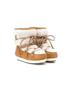 зимние ботинки со шнуровкой Moon boot kids