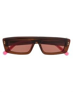 Затемненные солнцезащитные очки в прямоугольной оправе Stella mccartney eyewear