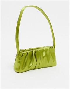 Оливково зеленая сумка на плечо в стиле 70 х Зеленый Asos design