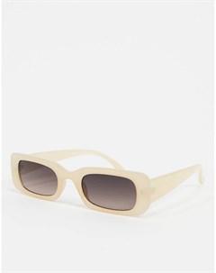 Нюдовые прямоугольные солнцезащитные очки Розовый New look