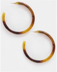 Янтарные серьги из каучука с эффектом омбре Коричневый Liars & lovers
