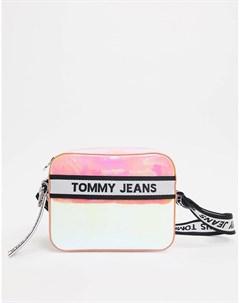 Сумка через плечо из искусственной кожи с переливающимся эффектом Мульти Tommy jeans