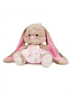 Мягкая игрушка Зайка в розовом платье 25 см Jack&lin
