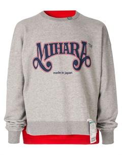 пуловер с пришитой футболкой Maison mihara yasuhiro