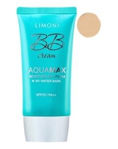 ББ Крем Aquamax Moisture BB Cream 1 SPF25 PA Увлажняющий для Лица тон 1 40 мл Limoni