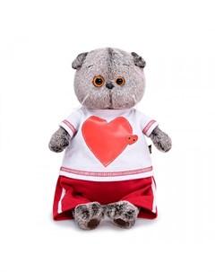 Мягкая игрушка Басик в футболке с сердцем 30 см Budi basa