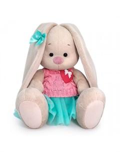 Мягкая игрушка Зайка Ми в юбке и вязаном жилете 18 см Budi basa