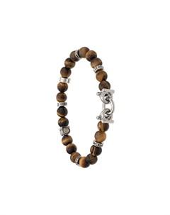 браслет с полудрагоценными камнями и декором Gancini Salvatore ferragamo