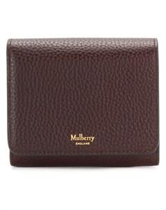 Кошелек зернистой выделки с логотипом бренда Mulberry