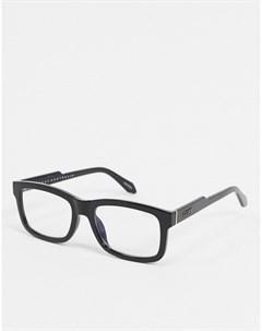 Квадратные очки в черной оправе Quay beatnik Quay australia