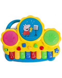 Музыкальный инструмент Пианино с барабанами Свинка пеппа (peppa pig)