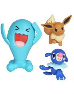Игровой набор Воббафет Попплио Иви Pokemon