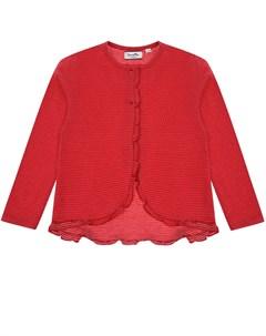 Красная кофта в белый горошек детская Sanetta fiftyseven