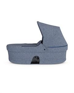 Люлька в коляску с твердым дном синий меланж Stokke