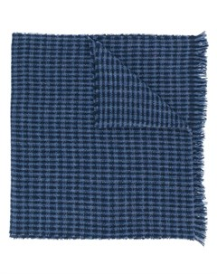 клетчатый вязаный шарф Hackett