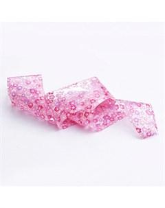 Фольга для литья 96 Розовые цветы Patrisa nail