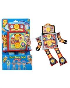 Мягкая игрушка Кукла Робот Пуговка Alex