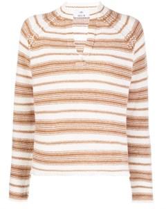 полосатый свитер с V образным вырезом Allude