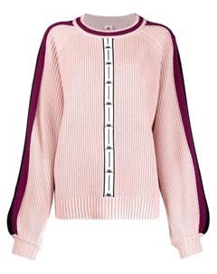 свитер с контрастными полосками и логотипом Kappa
