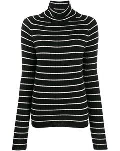 полосатый свитер с высоким воротником Ami paris