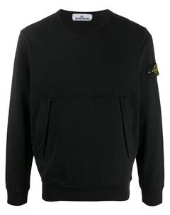 пуловер с нашивкой логотипом Stone island