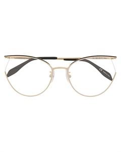 Очки в оправе кошачий глаз Alexander mcqueen eyewear