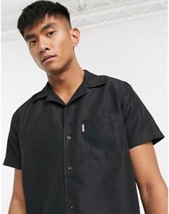Черная пляжная рубашка Черный Slydes