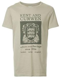 Футболка с принтом герба со львами Kent & curwen