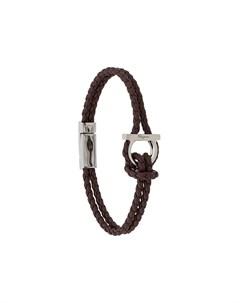 плетеный браслет Salvatore ferragamo