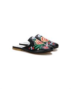 слиперы с цветочной вышивкой Andrea montelpare
