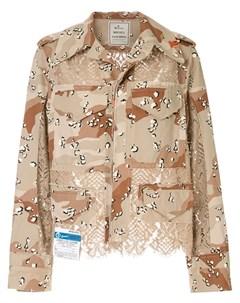 Куртка с кружевной вставкой Maison mihara yasuhiro