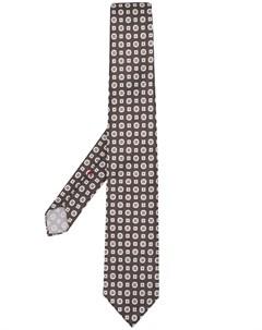галстук с геометричным принтом Dell'oglio