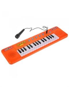 Музыкальный инструмент Электропианино с микрофоном Умка
